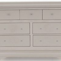 Chest Of Drawers - Isabel Hand Painted Range - 3 Over 4 Chest Of Drawers - Taupe Finish