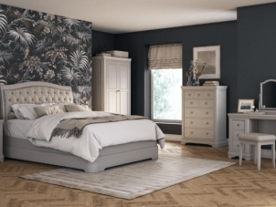 Isabel range wood taupe bedroom furniture