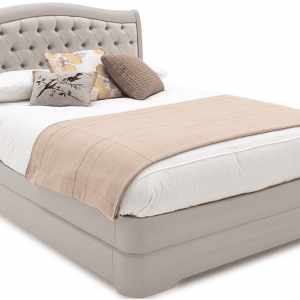 5ft King Size - Isabel Hand Painted Range - Deep Buttoned Upholstered Bed - Taupe