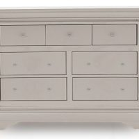 Chest Of Drawers - 3 Over 4 Chest Of Drawers - Taupe Finish - Isabel Bedroom Range