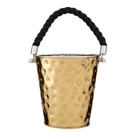 Keep your favourite tipple at the perfect coiffing temperature in this Gold Plated Wine - Champagne - Ice Bucket. See the matching pieces also available. For other Champagne Coolers and more Home Accessories CLICK HERE