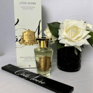 'Jasmine Flower Tea' Reed Diffuser - Cote Noire Glass Bottle - 150ml