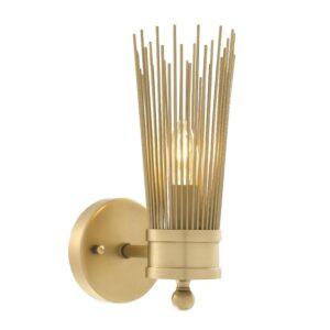Wall Light - Antique Brass Finish - Spike Design Wall Light - 1 Bulb