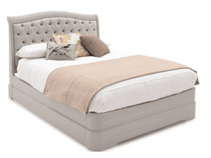 "4ft 6"" Double Bed - Deep Buttoned - Isabel Bedroom Range - Taupe Finish"