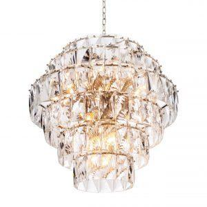 Chandelier - 26 Light - 6 Tiered Cut Clear Crystal Large Chandelier