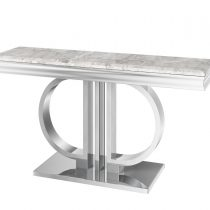 'Marbaya Range' Chrome Based Grey Marble Top Console Table