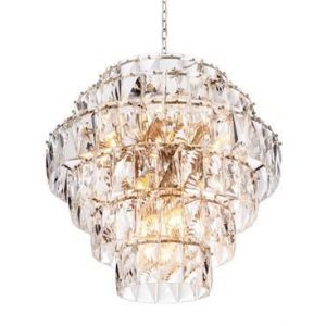 Chandelier - 26 Light - 6 Tiered Cut Clear Crystal - Chrome - Large