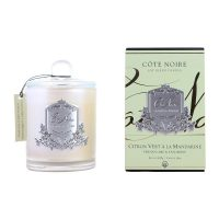 Cote Noire Glass Scented Candle - Persian Lime & Tangerine -100 Hours