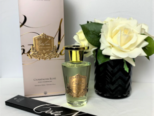 'Champagne Rose' Reed Diffuser - Cote Noire Glass Bottle -150ml