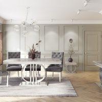 'Marbaya Range' Chrome Based Grey Marble Top Side/Lamp Table