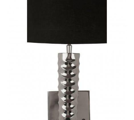 Twisted Chrome Long Wall Light - Black Shade Black cotton shade Dimensions: H: 99cm x W: 27cm cm D: 27cm For all our Wall Light selection, including new ones added daily -CLICK HERE