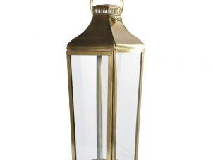 Medium Antique Brass Floor Standing Hurricane Lantern
