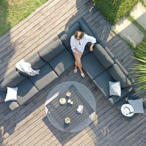 Garden Corner Sofa Group - All Weather Fabric - Coffee Table - Large - GREY