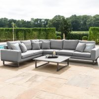 All Weather Garden Fabric Corner Sofa Group - Coffee Table - LARGE - CHARCOAL GREY