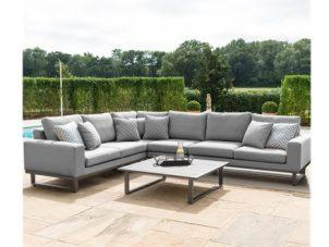 Garden Corner Sofa Group - All Weather Fabric - Coffee Table - Large - GREY