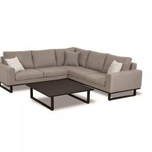 All Weather Garden Fabric Corner Sofa Group - Coffee Table - Small - TAUPE