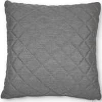 Scatter Cushion - Quilted Diamond Design - Outdoor All Weather - Grey