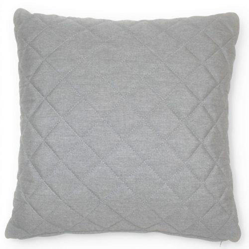 Scatter Cushion - Quilted Diamond - All Weather - Light Grey