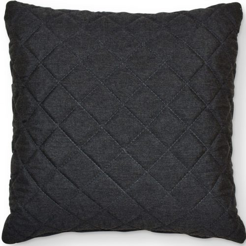 Scatter Cushion - Quilted Diamond Design - Outdoor All Weather - CHARCOAL