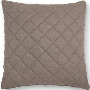 Scatter Cushion - Quilted Diamond Design - Outdoor All Weather - Taupe