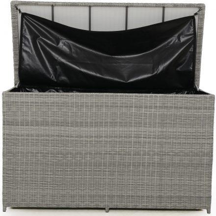 Garden Storage Box - Large Storage Box - Light Grey Flatweave