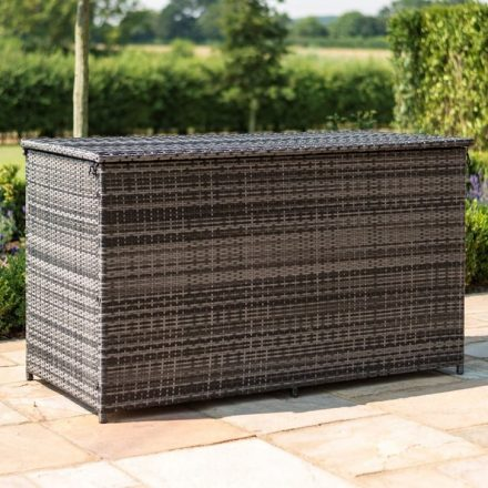 Garden Storage Box - Large Storage Box - Mixed Brown Flatweave