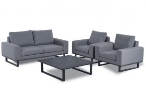 All Weather Fabric Garden Sofa & Chair Set - Coffee Table - GREY