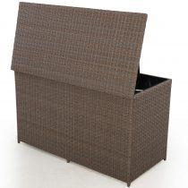 Garden Storage Box - Large Storage Box - Light Brown Flatweave