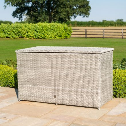 Garden Storage Box - Large Storage Box - Grey Poly Rattan