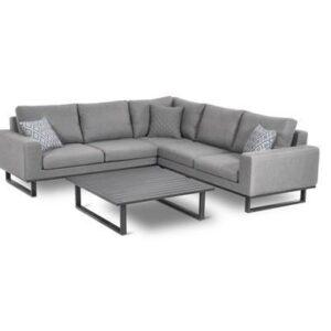 All Weather Garden Fabric Corner Sofa Group - Coffee Table - Small - GREY
