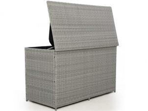 Garden Storage Box - Large - Waterproof Lined - Light Grey Flat Weave