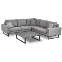 All Weather Garden Fabric Corner Sofa Group - Coffee Table - Small - GREY
