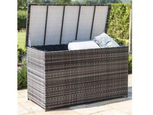 Garden Storage Box - Large Storage Box - Fully Lined - Mixed Grey Flat Weave