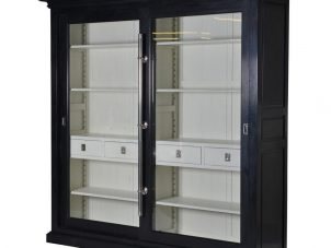 Wall Unit - Chrome Edged & 4 Drawers - Dorchester Black Range