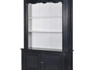 Wall Dresser Unit - 4 Shelves & Cupboard - Open Design - Dorchester Black Range