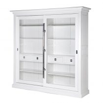 Wall Unit - Chrome Edged & 4 Drawers - Dorchester White Range