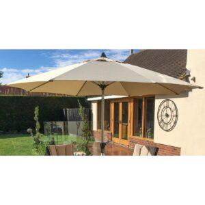 Garden Umbrella & Base - 2.7cm - Taupe