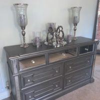 Chest Of Drawers - Extra Large - 7 Drawers - Hand Painted Silver Finish - Hollywood Range