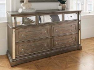 Chest Of Drawers - 7 Drawers - Silver Finish - Hollywood Bedroom Range