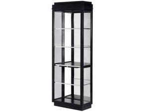 Bookcase/Display Cabinet - Glass & Chrome - 4 Shelves - Dorchester Black Range