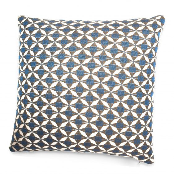 Scatter Cushion - Mosaic Blue Fabric - All Weather Fabric