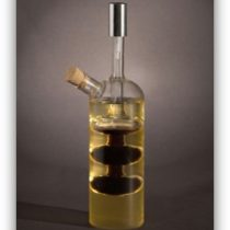 Oil & Vinegar Designer Bottle - Built In Vinegar Sprayer