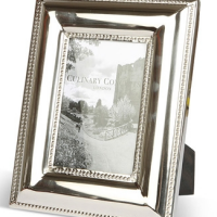 "4"" x 6"" Photo Frame - Chrome Plated Bevel Edged Photo Frame"