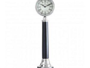 Mantel Clock - Bond Street Clock Co - Large Black & Chrome Mantel Clock