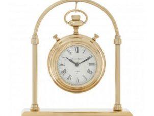 Mantel Clock - Hampstead Clock Company - Small Brass Mantel Clock - Roman Numerals