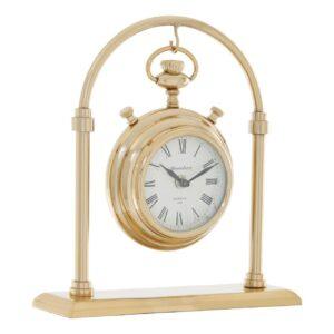 Mantel Clock - 'Hampstead Clock Co' - Polished Brass - Small