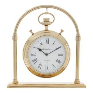 Mantel Clock - 'Hampstead Clock Co' - Polished Brass - Large