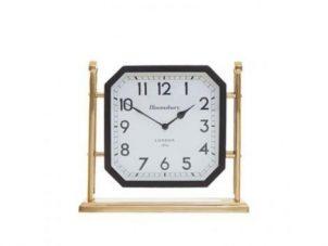 Mantel Clock - Hampstead Clock Co - Black & Gold Mantel Clock - Roman Numerals