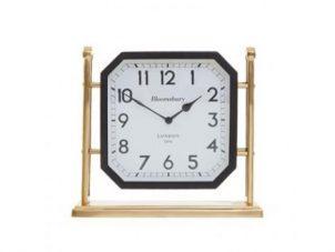 Mantel Clock - Hampstead Clock Co - Large Black & Gold Mantel Clock