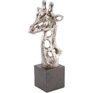 Giraffe Head Sculpture - Abstract Giraffe Head Sculpture - Silver
